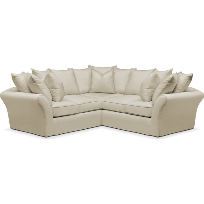 Living Room Furniture - Allison 2 Pc. Sectional with Right Facing Loveseat- Cumulus in Abington TW Barley