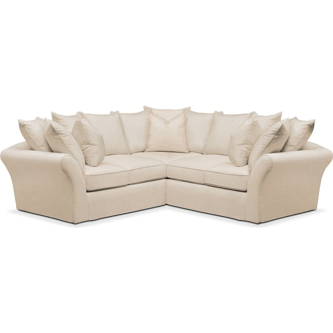 Living Room Furniture - Allison 2 Pc. Sectional with Right Facing Loveseat- Cumulus in Anders Ivory