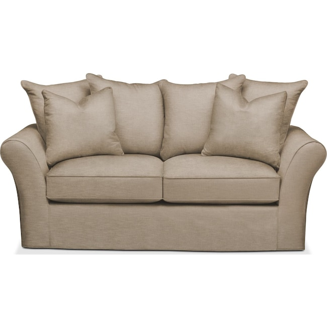 Living Room Furniture - Allison Apartment Sofa- Cumulus in Dudley Burlap