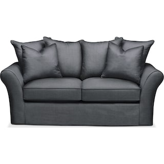 Allison Apartment Sofa- Cumulus in Milford II Charcoal
