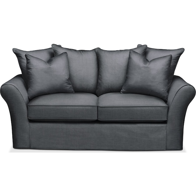 Living Room Furniture - Allison Apartment Sofa- Cumulus in Milford II Charcoal