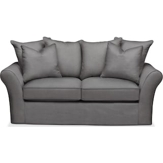 Allison Apartment Sofa- Cumulus in Hugo Graphite