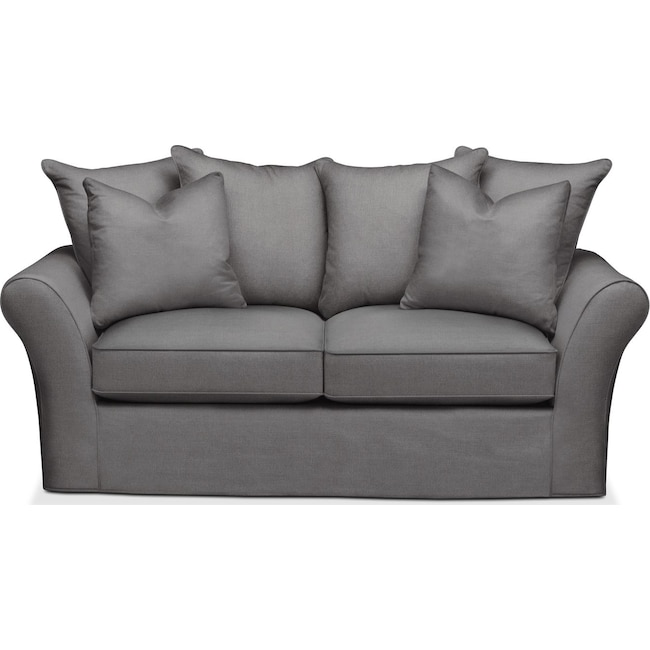 Living Room Furniture - Allison Apartment Sofa- Cumulus in Hugo Graphite