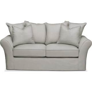 Allison Apartment Sofa- Cumulus in Dudley Gray