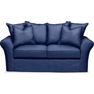 Allison Apartment Sofa- Cumulus in Dudley Indigo