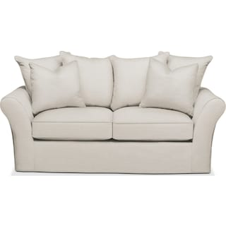 Allison Apartment Sofa- Cumulus in Anders Ivory