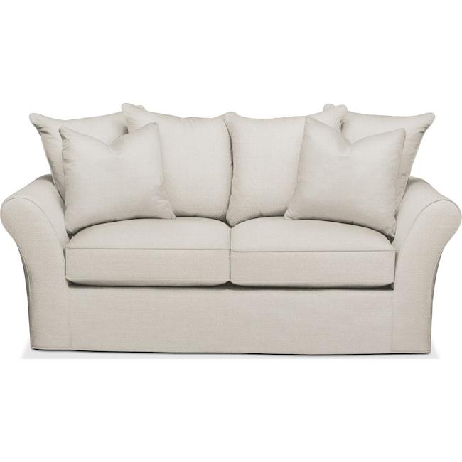 Living Room Furniture - Allison Apartment Sofa- Cumulus in Anders Ivory