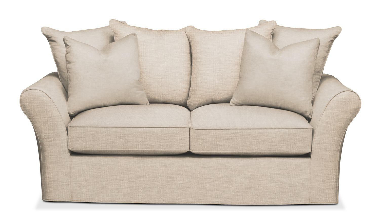 Allison Apartment Sofa  Cumulus In Victory Ivory By Kroehler