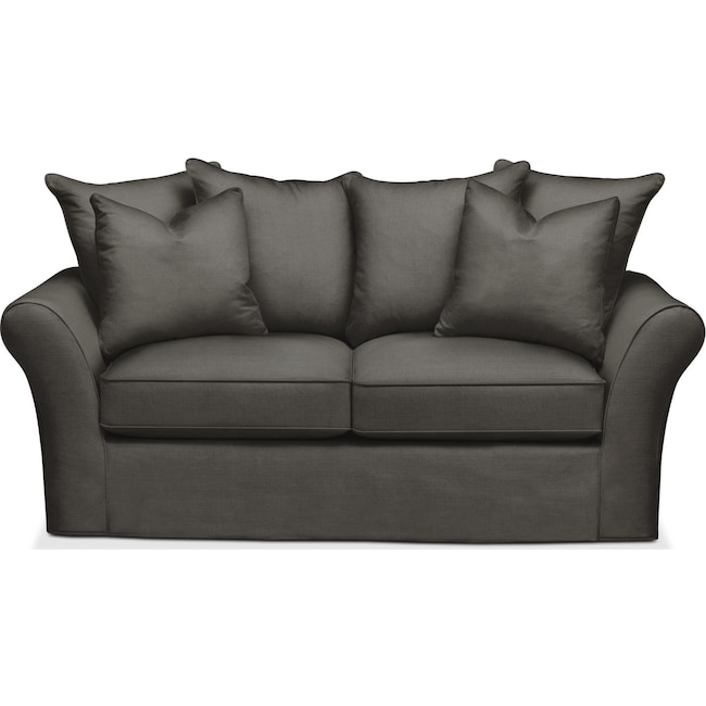 Living Room Furniture - Allison Apartment Sofa- Cumulus in Statley L Sterling