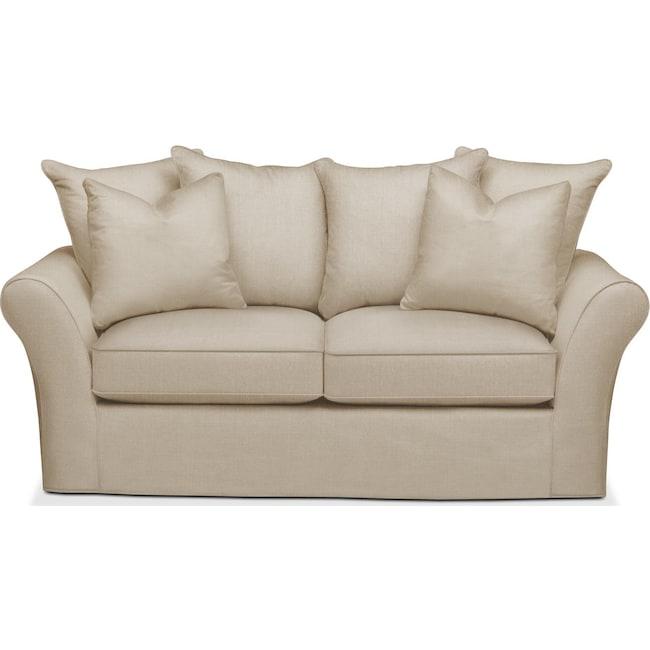 Living Room Furniture - Allison Apartment Sofa- Cumulus in Depalma Taupe