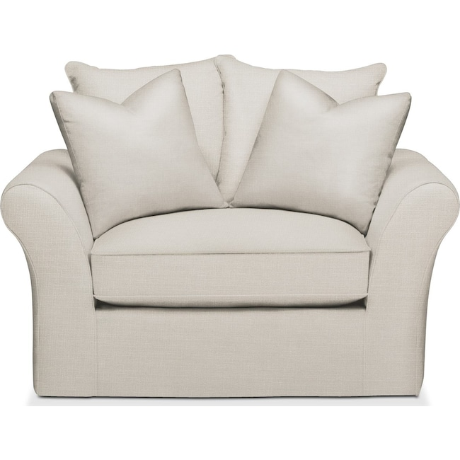 Living Room Furniture - Allison Chair and a Half- Cumulus in Victory Ivory