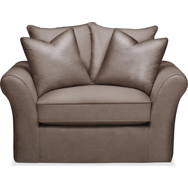 Living Room Furniture - Allison Chair and a Half- Cumulus in Hugo Mocha