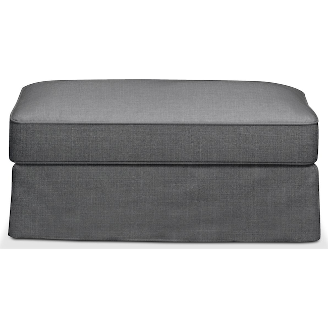 Living Room Furniture - Allison Ottoman- Cumulus in Depalma Charcoal