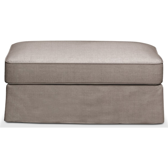 Living Room Furniture - Allison Ottoman- Cumulus in Abington TW Fog