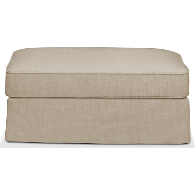 Living Room Furniture - Allison Ottoman- Cumulus in Depalma Taupe