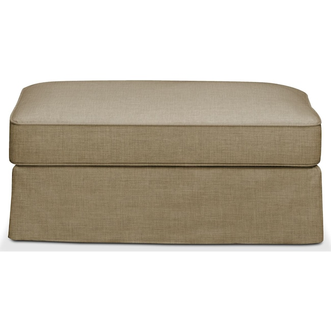 Living Room Furniture - Allison Ottoman- Cumulus in Milford II Toast