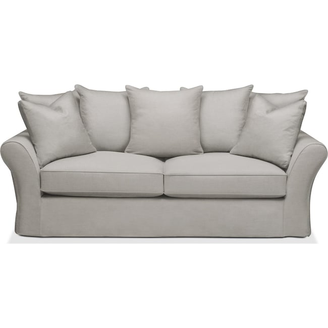 Living Room Furniture - Allison Sofa- Cumulus in Dudley Gray