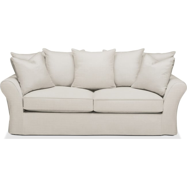 Living Room Furniture - Allison Sofa- Cumulus in Victory Ivory