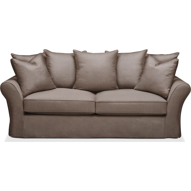 Living Room Furniture - Allison Sofa- Cumulus in Hugo Mocha