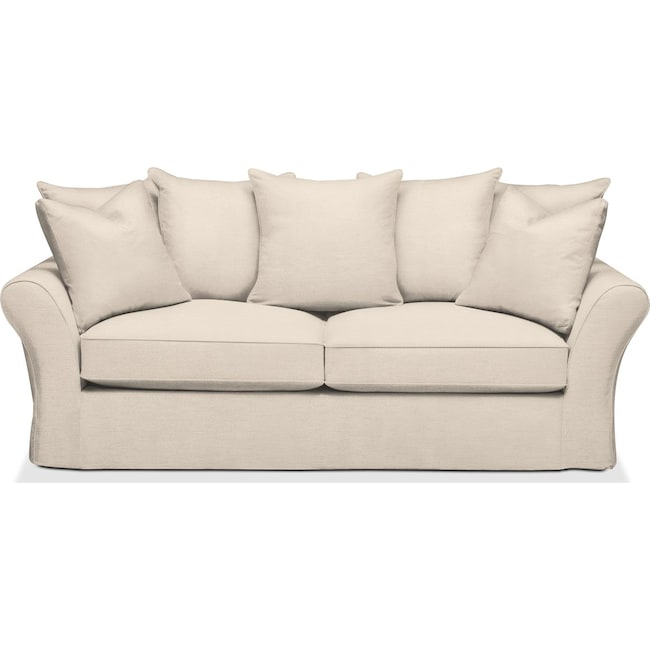 Living Room Furniture - Allison Sofa- Cumulus in Curious Pearl