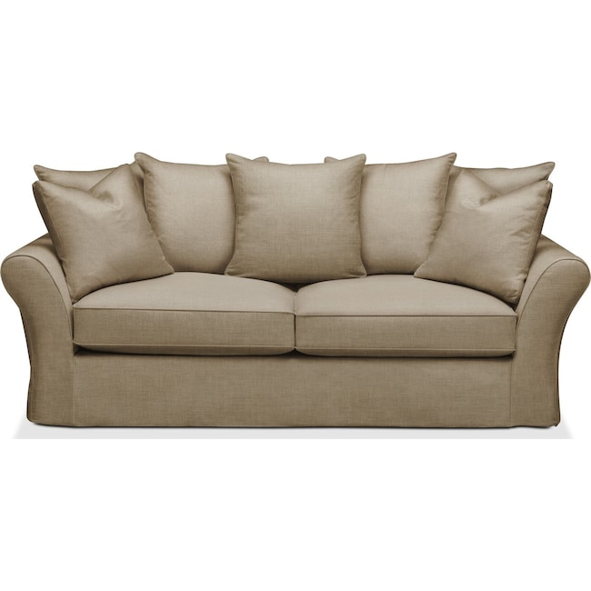 Living Room Furniture - Allison Sofa- Cumulus in Milford II Toast