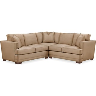Arden 2 Pc. Sectional with Right Arm Facing Loveseat- Cumulus in Hugo Camel