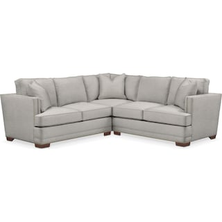 Arden 2 Pc. Sectional with Right Arm Facing Loveseat- Cumulus in Dudley Gray