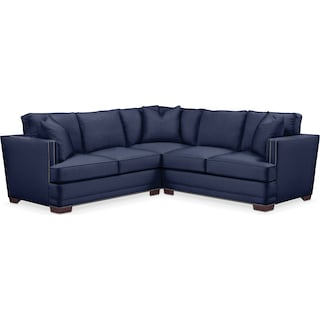 Arden 2 Pc. Sectional with Right Arm Facing Loveseat- Cumulus in Oakley III Ink