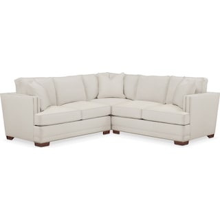 Arden 2 Pc. Sectional with Right Arm Facing Loveseat- Cumulus in Victory Ivory