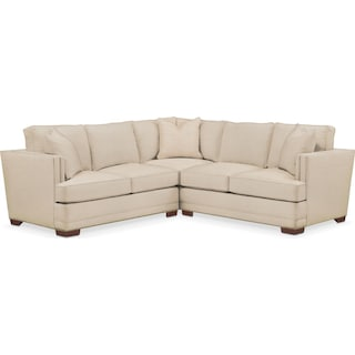 Arden 2 Pc. Sectional with Right Arm Facing Loveseat- Cumulus in Anders Ivory
