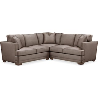 Arden 2 Pc. Sectional with Right Arm Facing Loveseat- Cumulus in Hugo Mocha