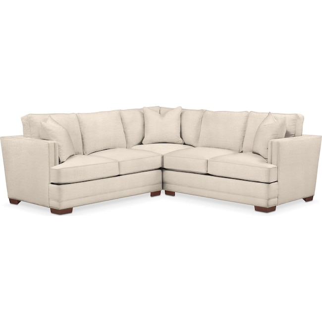 Living Room Furniture - Arden 2-Piece Sectional with Right-Facing Loveseat - Cumulus in Curious Pearl