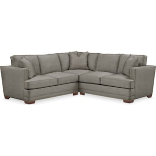 Arden 2 Pc. Sectional with Right Arm Facing Loveseat- Cumulus in Victory Smoke