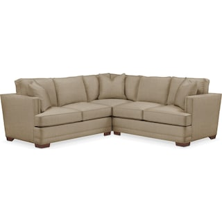 Arden 2 Pc. Sectional with Right Arm Facing Loveseat- Cumulus in Milford II Toast