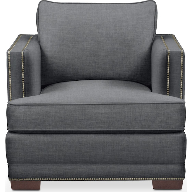 Living Room Furniture - Arden Chair- Cumulus in Depalma Charcoal