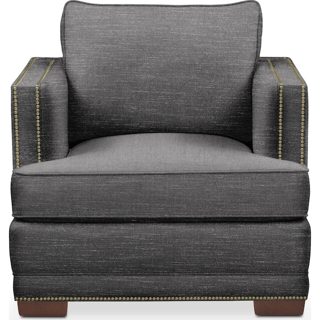 Living Room Furniture - Arden Chair- Cumulus in Milford II Charcoal