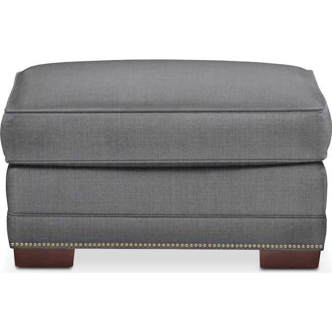 Living Room Furniture - Arden Ottoman- Cumulus in Curious Charcoal