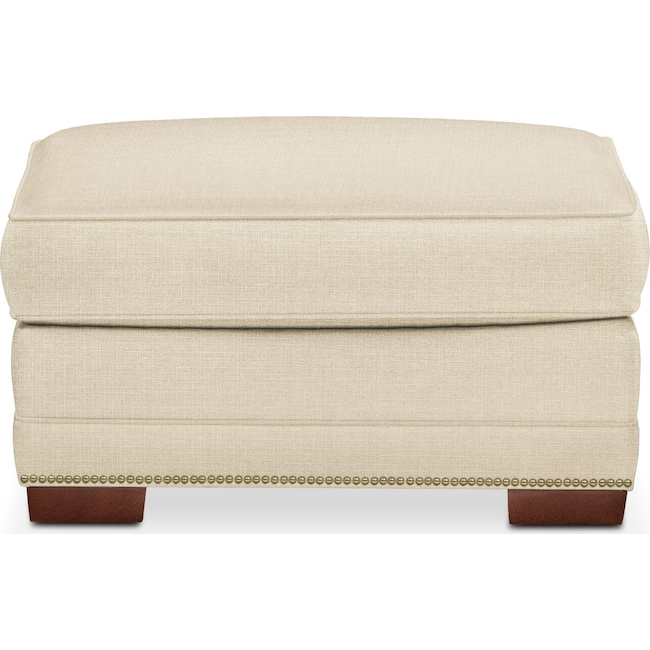 Living Room Furniture - Arden Ottoman- Cumulus in Anders Cloud