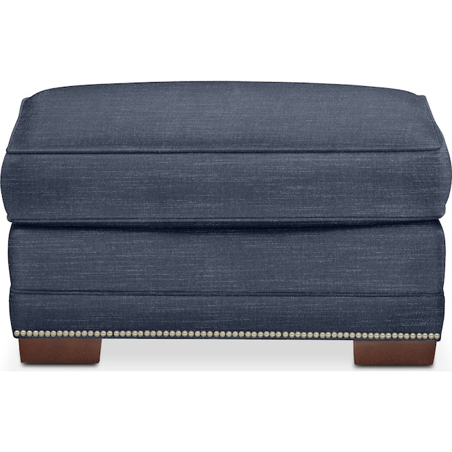 Living Room Furniture - Arden Ottoman- Cumulus in Curious Eclipse