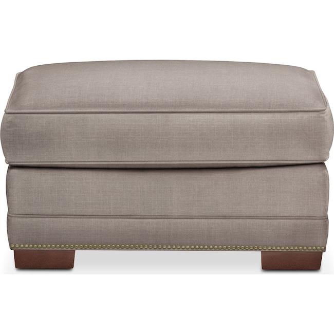 Living Room Furniture - Arden Ottoman- Cumulus in Abington TW Fog