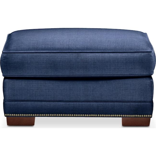 Living Room Furniture - Arden Ottoman- Cumulus in Abington TW Indigo
