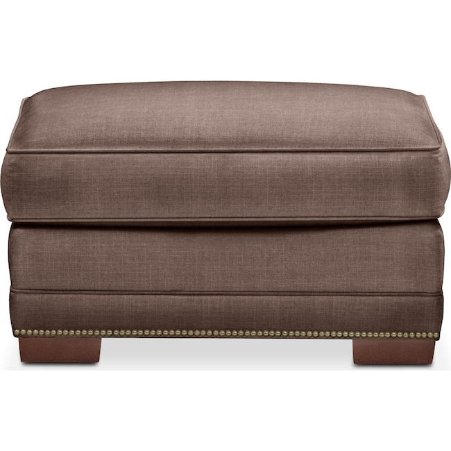 Living Room Furniture - Arden Ottoman- Cumulus in Oakley III Java