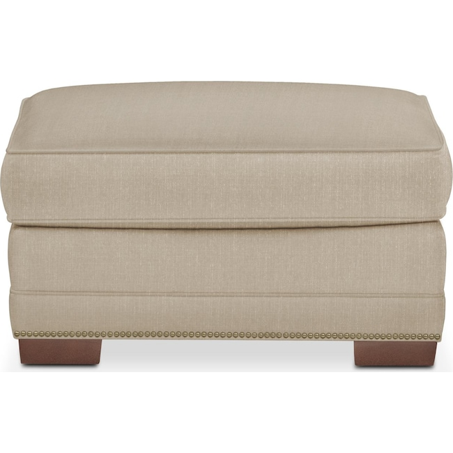 Living Room Furniture - Arden Ottoman- Cumulus in Depalma Taupe