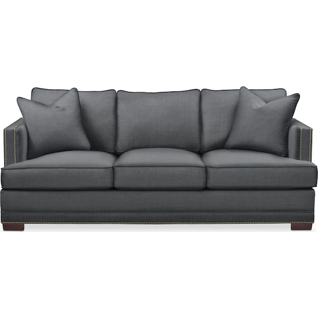 Living Room Furniture - Arden Sofa- Cumulus in Depalma Charcoal