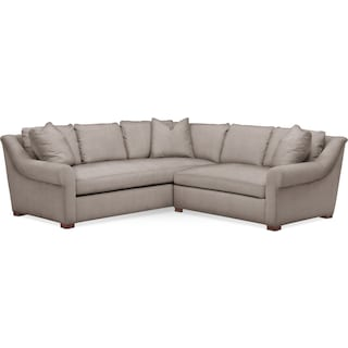 Asher 2 Pc. Sectional with Right Arm Facing Loveseat- Cumulus in Abington TW Fog