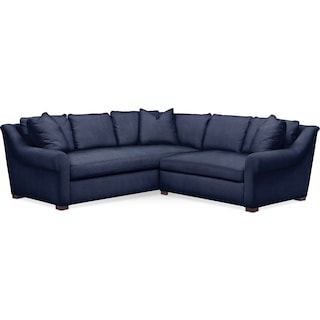 Asher 2 Pc. Sectional with Right Arm Facing Loveseat- Cumulus in Oakley III Ink