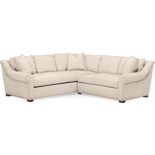 Asher 2 Pc. Sectional with Right Arm Facing Loveseat- Cumulus in Curious Pearl
