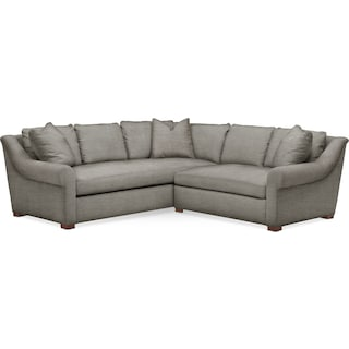 Asher 2 Pc. Sectional with Right Arm Facing Loveseat- Cumulus in Victory Smoke