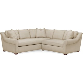 Asher 2 Pc. Sectional with Right Arm Facing Loveseat- Cumulus in Depalma Taupe