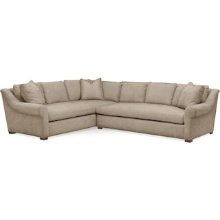 Asher 2 Pc. Sectional with Right Arm Facing Sofa- Cumulus in Dudley Burlap